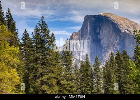 Half Dome, Yosemite National Park, California, USA,mountain,dome,national park,yosemite,Californian,america,american,trees,landscape,landscapes,scenic - Stock Photo