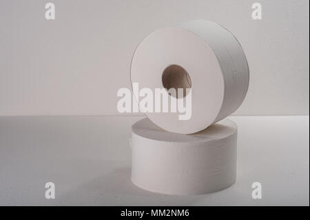 Roll paper on white background - Stock Photo