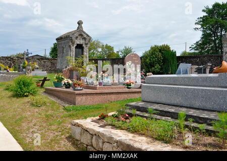 'Organic' cemetery of Saint Bonnet les tours de Merle - France - Stock Photo