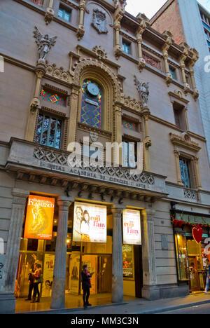 Teatre Poliorama, La Rambla, Barcelona, Catalonia, Spain - Stock Photo