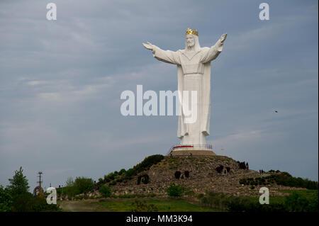 Pomnik Chrystusa Krola (Monument of Christ the King) in Swiebodzin, Poland. May 2nd 2018, is the tallest Jesus Christ statue in the world  © Wojciech  - Stock Photo