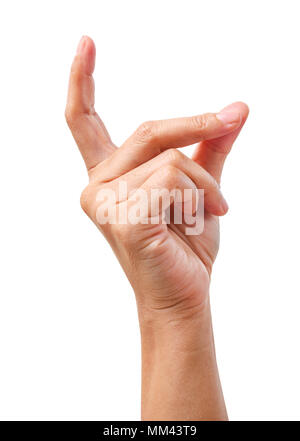Using hand gestures, yes ideas isolated on white background, Save clipping path. - Stock Photo