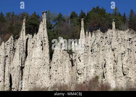 Earth Pyramids Gasteinergraben Unterinn Ritten South Tyrol Alto Adige Italy Europe - Stock Photo
