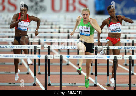 Zurich, Switzerland. 08th, Sep 2011. ( L-R) Danielle Carruthers of the United States of America, Australian's Sally Person and Nikkita Holder from USA - Stock Photo
