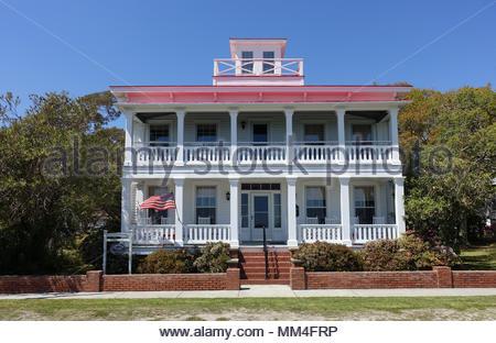 Coastal Home in Southport, North Carolina - Stock Photo