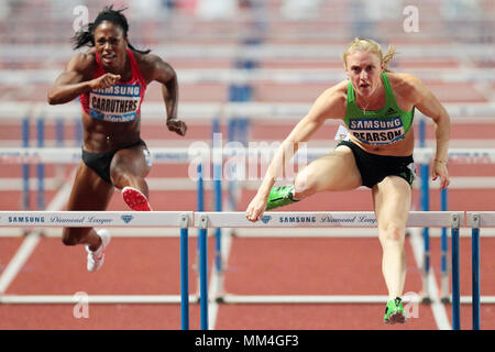 Monaco, Principality of Monaco . 22th, Jul 2011. (L-R) Danielle Carruthers of the United States of America and Australian's Sally Person competes in t - Stock Photo