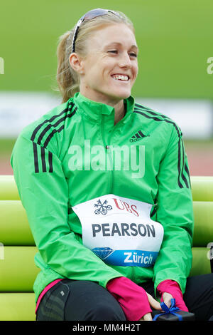Zurich, Switzerland. 08th, Sep 2011.  Australian's Sally  Person before competition in the final of the Women's 100m hurdle during the IAFF Diamond Le - Stock Photo