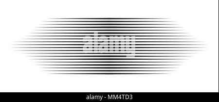 horizontal motion speed lines for comic book - Stock Photo