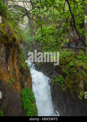 Hiking in the High Pyrenees near Cauterets, France - Stock Photo