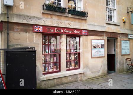 The Bath Sweet Shop traditional sweet shop on abbey green Bath England UK - Stock Photo