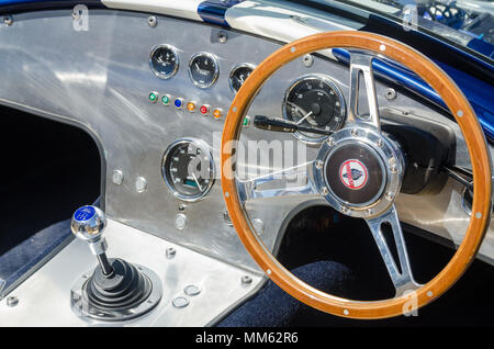 Detail of interior of a Ram Type R Shelby American 427 Cobra - Stock Photo