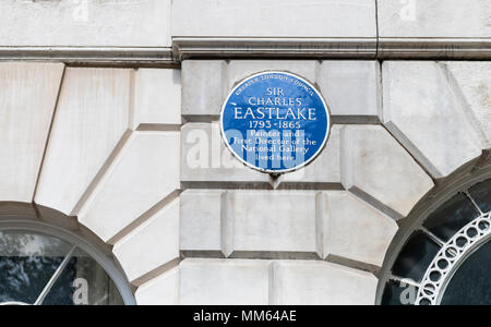 Sir Charles Eastlake Blue Plaque - Stock Photo