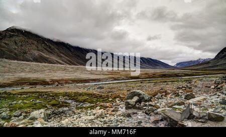 Panorama of Yasin Valley, Gilgit-Baltistan Province, Pakistan - Stock Photo