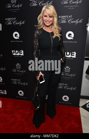 New York, USA. 8th May, 2018. Christie Brinkley attends the Always At The Carlyle Premiere on May 8, 2018 in New York City. Credit: Erik Pendzich/Alamy Live News - Stock Photo