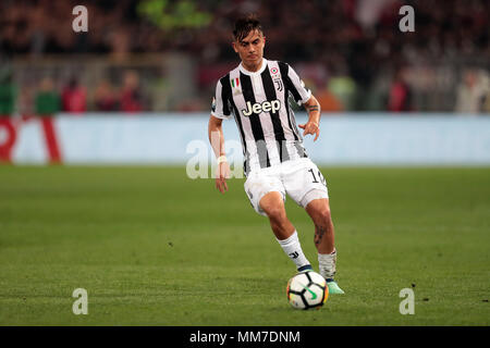 Stadio Olimpico, Rome, Italy. 9th May, 2018. Coppa Italia Football Cup final, Juventus versus AC Milan; Paulo Dybala of Juventus controls the ball Credit: Action Plus Sports/Alamy Live News - Stock Photo