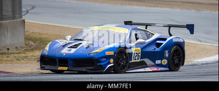 Monterey, CA, USA. 6th May, 2018. A. #126 Robert Picerne coming out of turn 2 during the Ferrari Challenge Coppa Shell Race 2 at WeatherTech Raceway Laguna Seca Monterey, CA Thurman James/CSM/Alamy Live News
