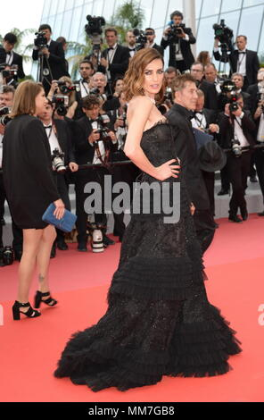 Cannes, France. 9th May, 2018. CANNES, FRANCE - MAY 09: Nieves Alvarez attends the screening of 'Yomeddine' during the 71st annual Cannes Film Festival at Palais des Festivals on May 9, 2018 in Cannes, France. Credit: Frederick Injimbert/ZUMA Wire/Alamy Live News - Stock Photo