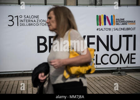 Turin, Piedmont, Italy. 10th May, 2018. Turin, Italy-May 10, 2018: People on inauguration of Turin International Book Fair 2018 in Turin, Italy Credit: Stefano Guidi/ZUMA Wire/Alamy Live News - Stock Photo