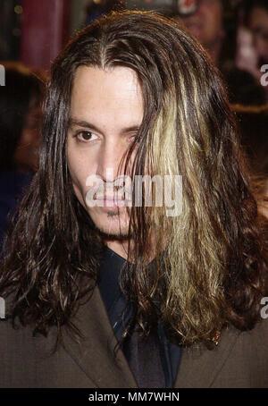 Johnny Depp arriving at the premiere of Blow  at the Chinese Theatre in Los Angeles 3/29/2001  DeppJohnny02A.jpgDeppJohnny02A Red Carpet Event, Vertical, USA, Film Industry, Celebrities,  Photography, Bestof, Arts Culture and Entertainment, Topix Celebrities fashion /  Vertical, Best of, Event in Hollywood Life - California,  Red Carpet and backstage, USA, Film Industry, Celebrities,  movie celebrities, TV celebrities, Music celebrities, Photography, Bestof, Arts Culture and Entertainment,  Topix, headshot, vertical, one person,, from the year , 2001, inquiry tsuni@Gamma-USA.com - Stock Photo