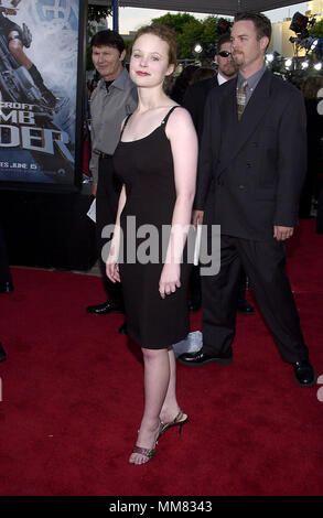 Thora Birch arriving at the Lara Croft: Tomb Raider premiere at the Westwood Village Theatre  in Los Angeles  June 11, 2001  BirchThora01D.JPGBirchThora01D Red Carpet Event, Vertical, USA, Film Industry, Celebrities,  Photography, Bestof, Arts Culture and Entertainment, Topix Celebrities fashion /  Vertical, Best of, Event in Hollywood Life - California,  Red Carpet and backstage, USA, Film Industry, Celebrities,  movie celebrities, TV celebrities, Music celebrities, Photography, Bestof, Arts Culture and Entertainment,  Topix, vertical, one person,, from the year , 2001, inquiry tsuni@Gamma-US - Stock Photo