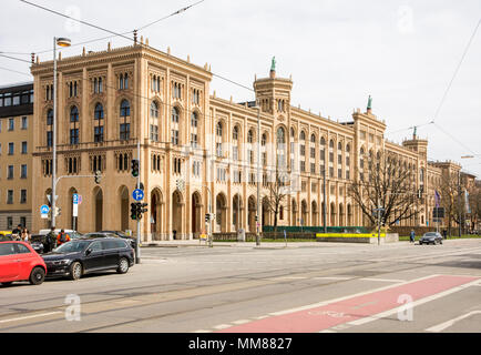 MUNICH, GERMANY - APRIL 4:  The Government building of Upper Bavaria in Munich, Germany on April 4, 2018. - Stock Photo