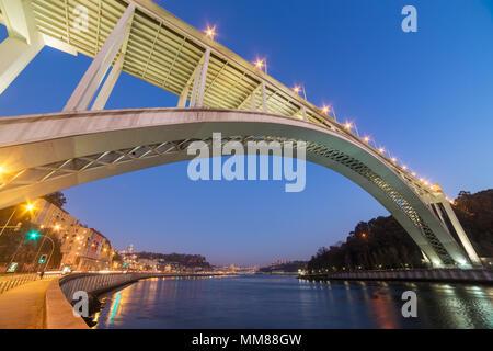 Ponte da Arrabida Bridge in Porto, Portugal - Stock Photo