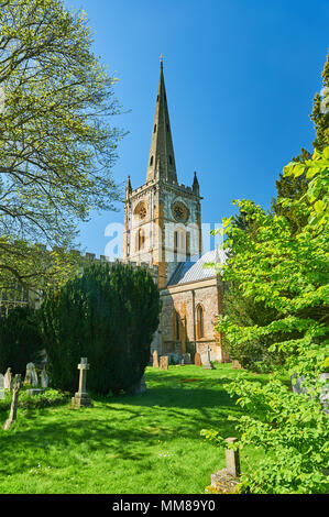 Stratford upon Avon, Holy Trinity Church, burial place of William Shakespeare Warwickshire - Stock Photo