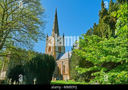 Stratford upon Avon, Holy Trinity Church, burial place of William Shakespeare Warwickshire - Stock Photo