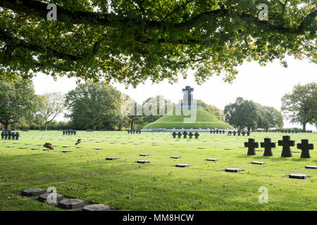La Cambe German war cemetery, La Cambe, Normandy,France - Stock Photo