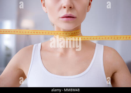 Close up of a female neck - Stock Photo