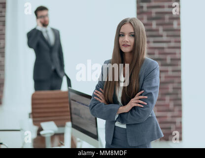 business woman in her office - Stock Photo