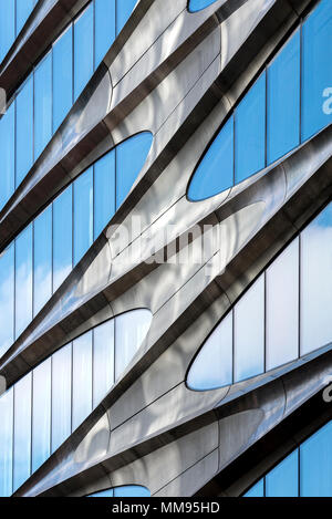 Abstract view of Zaha Hadid-designed 520 W 28th Street in NYC. - Stock Photo