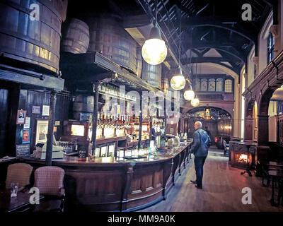Citte Of Yorke Pub, Chancelry Lane, Holborn, London, England, UK - Stock Photo