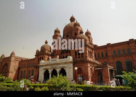 Exterior of Lahore museum building, Punjab, Pakistan - Stock Photo