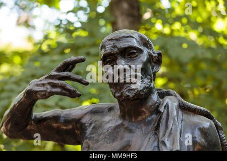Statue in Rodin Museum in Paris - Stock Photo