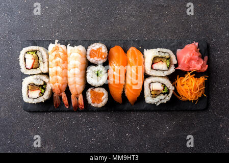 Set of Japanese sushi. - Stock Photo