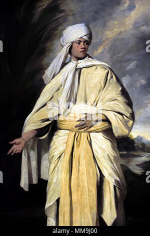 Portrait of Omai ( South Sea Islander who travelled to England with the second expedition of captain Cook ) 1776 18th Century, Sir Joshua Reynolds 1723 - 1792 UK, United, Kingdom, England, English, British, Britain, - Stock Photo