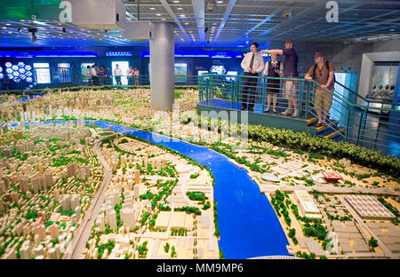 China.Shanghai: Shanghai Urban Planning Exhibition Center - Stock Photo