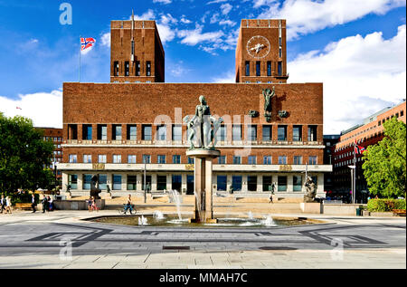 Norway - Oslo Town Hall - Stock Photo