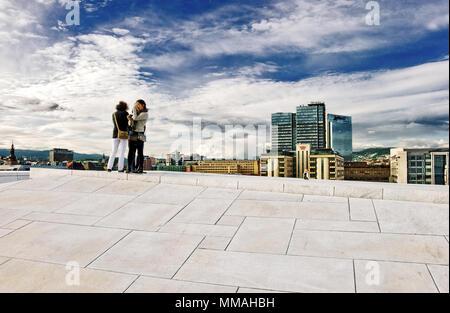 Norway - Oslo, Opera House area - Stock Photo