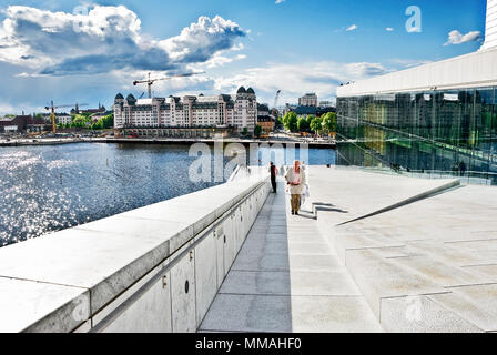 Norway - Oslo, Opera House area - Stock Photo