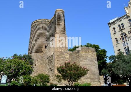 Maiden tower in Baku, Azerbaijan - Stock Photo