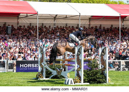 Badminton, Gloucesershire, England, UK. 1st-6th May 2018. The Mitsubishi Motors Badminton Horse Trials. The three-day event, one of only six annual Co - Stock Photo