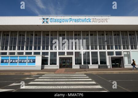 Glasgow Prestwick Airport, Scotland, UK - Stock Photo