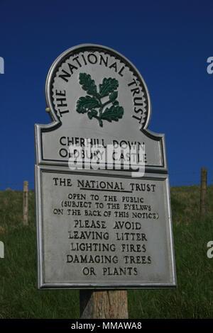 National Trust - Cherhill Down, Oldbury Castle - Stock Photo