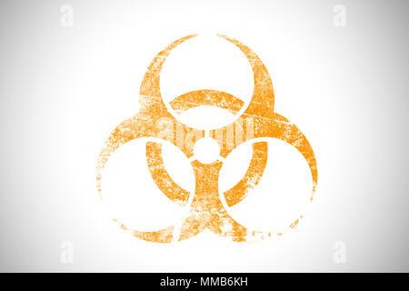 Biochemical Bio hazard industrial sign logo symbol of danger - Stock Photo