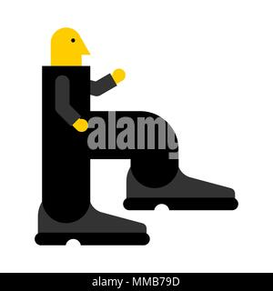 Go to work. Worker steps to work. Manager goes to job. Vector illustration - Stock Photo