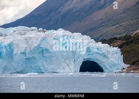 Perito Moreno glacier ice bridge, Patagonia, Argentina - Stock Photo