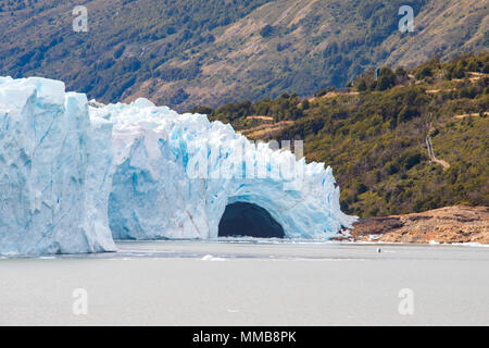 Perito Moreno glacier ice bridge, Patagonia, Argentina - Stock Photo