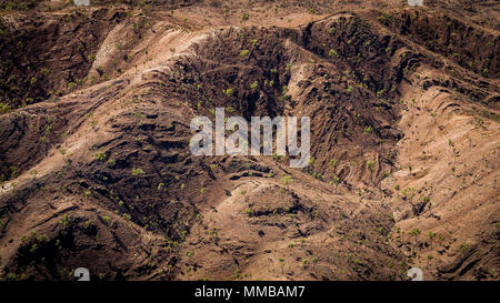 Aerial view of the West MacDonnell Ranges - Stock Photo